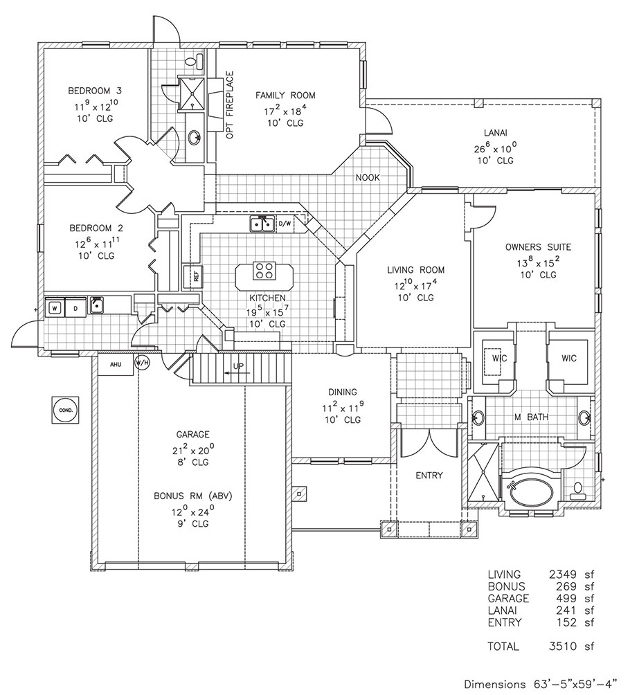 Ashburn i custom home floor plan palm coast and for Custom home plans florida