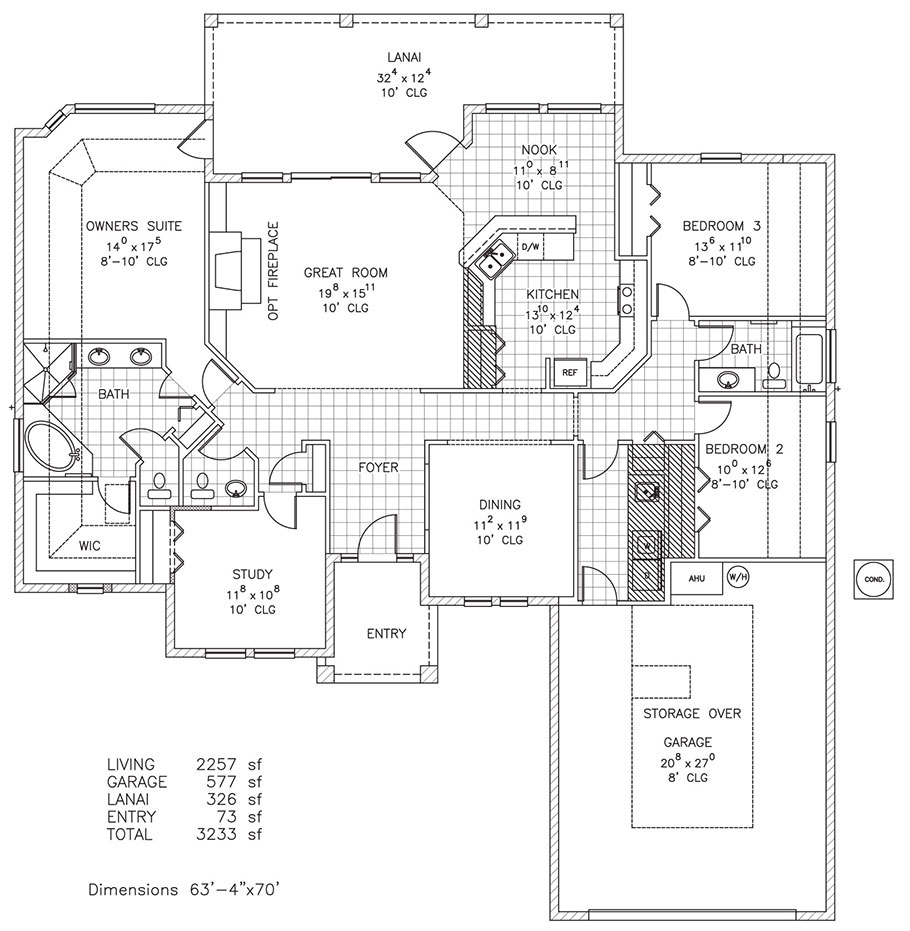 Devonshire i custom home floor plan palm coast fl for Custom home plans florida