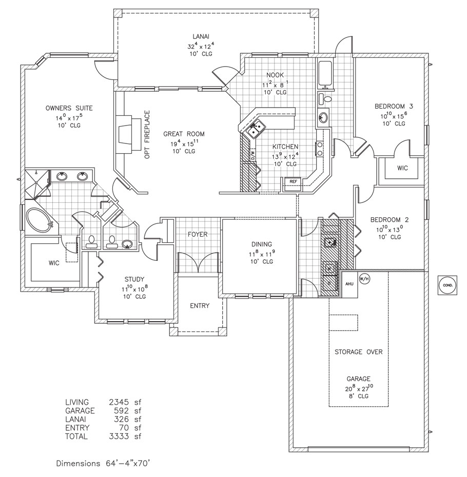 Devonshire ii custom home floor plan palm coast fl for Custom home plans florida