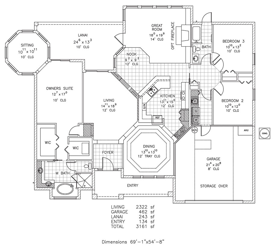 floridian new home floor plan palm coast and flagler a3 2437 3499 8975 floridian floor plan