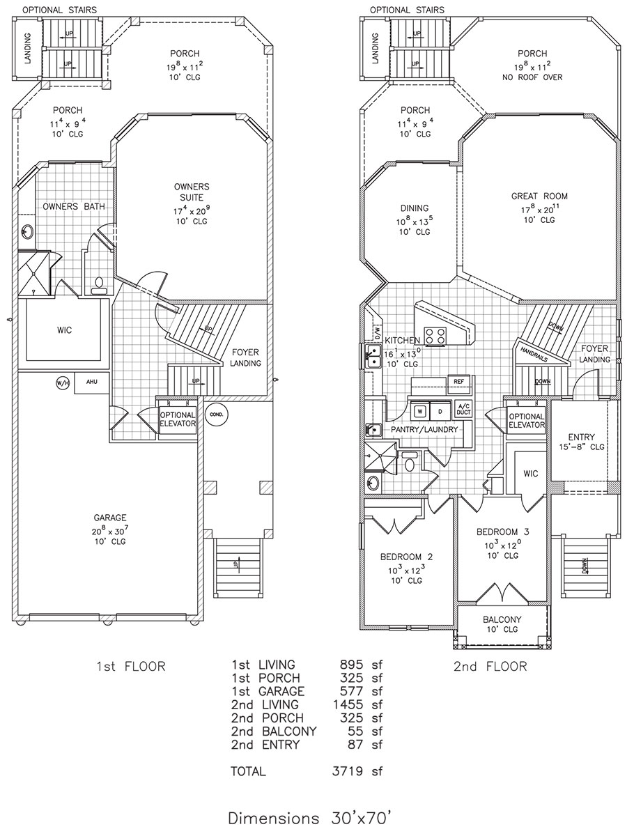 Seahorse key beach retreat beachfront floor plan for Duran homes floor plans
