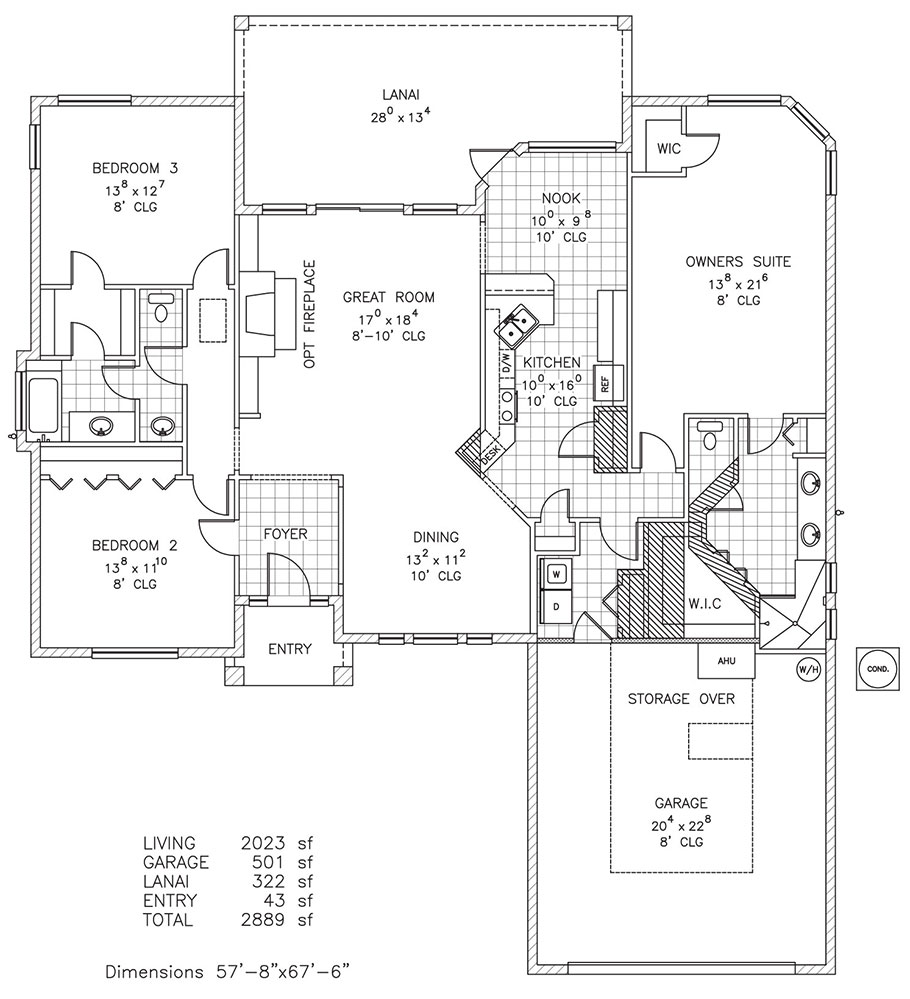 St james custom home floor plan palm coast and for Custom house blueprints
