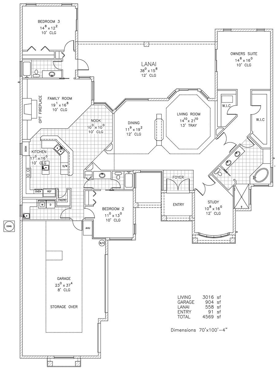 Turnberry Lane Custom Home Floor Plan Palm Coast Fl