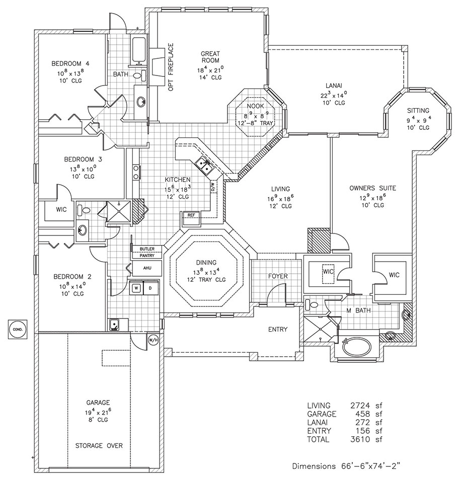 Odyssey custom home builder palm coast and flagler for Custom home floor plans