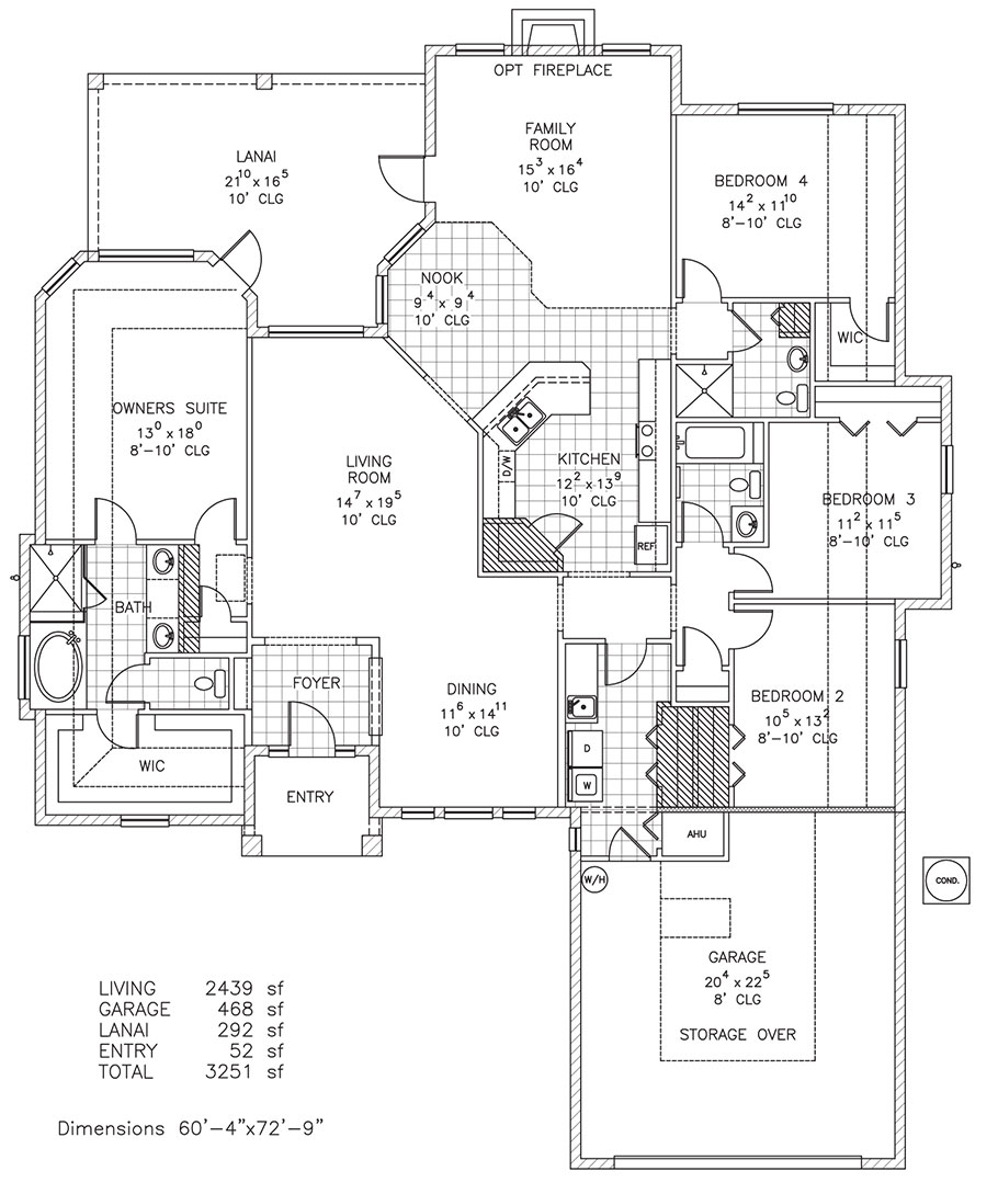 Plan 66342we 3 Bed Beauty With 2 Lanai: Custom Home Floor Plan