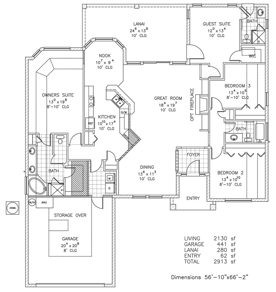 Windgate Custom Home Floor Plan Palm Coast And Flagler