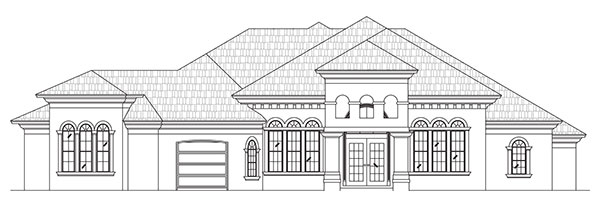 Rendering of Casa Mediterranean by Stoughton & Duran Custom Homes