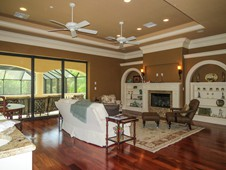 2nd floor family room with recessed ceiling and fans - Ormond Beach FL