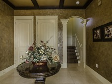 Foyer and private elevator - custom home in Palm Coast, FL