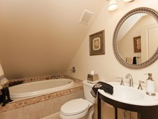 Guest bathroom - narrow lot home -Flagler Beach FL