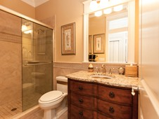 Guest bathroom - narrow lot home -Flagler Beach Florida