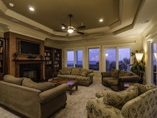 Living area with ocean views - oceanfront home - Palm Coast, FL
