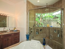 Master bathroom with large tiled shower - Ormond Beach FL