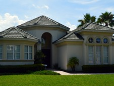 Mediterranean custom home with courtyard - Ormond Beach, FL