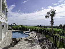Pool overlooking ocean and golf - oceanfront home - Palm Coast, FL